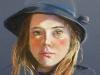 pastel-de-blauwe-hoed, maat 40 x 30 cm