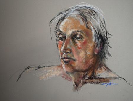 Pastel portret live studie