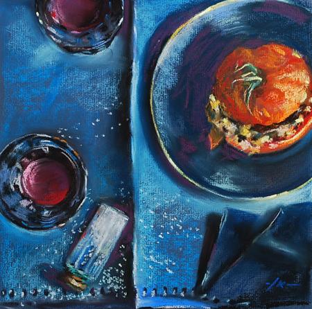 "Pastel ""Gegrilde tomaat II"""