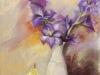 Stilleven met paarse galdiolen