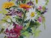 plein-air-bloemen-pastel-met-margrieten te koop