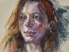 Pastel-studie-Roodharige-vrouw