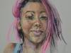Pastelportret-Neon maat 40x30 cm