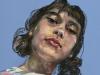 pastel-studie-meisje-met-staartjes maat 40x30 cm