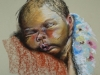 Pampers baby, maat 33 x 30 cm in pastel