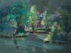 Park Serooskerke plein air pastel te koop