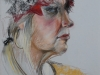 Model Wil, pastel op pastelpapier