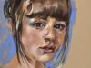 """portret-studie-in-pastelkrijt """"Olivia"""""""