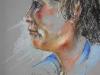 pastel portret van een vrouw