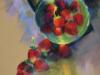 pastel-Aardbeien-in-een-schaaltje-met-zonlicht- te koop