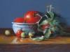 tomaten in pastel, maat 20 x 30 cm