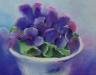 viooltjes in glas (Verkocht)