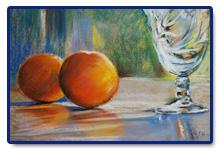 Glas met sinaasappels
