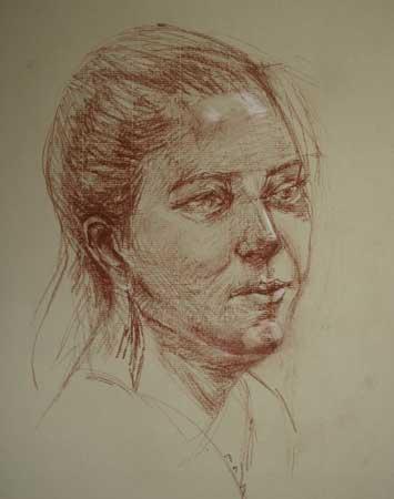 Portret studie van Model Eva