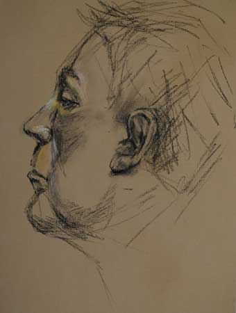Portret studie van een man