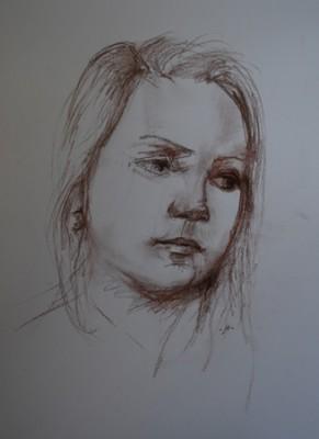2013-05-16eva, portret studie pastelpotlood