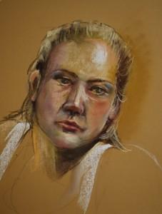 Soft pastel Eva 2013, maat 40 x 30 cm, Joke Klootwijk