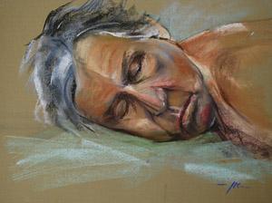 Pastel portret studie