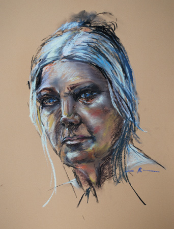 "Plein air Portret studie ""Model Wil"" 40 x 30 cm"