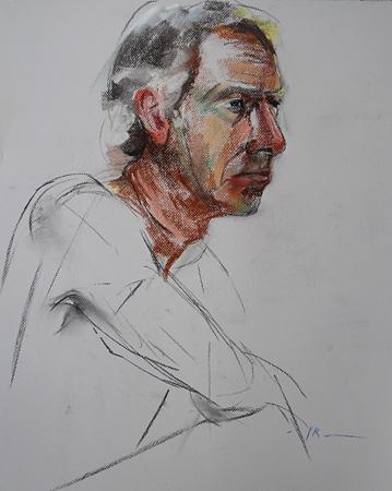 Portret studie 2,5 uur pastel
