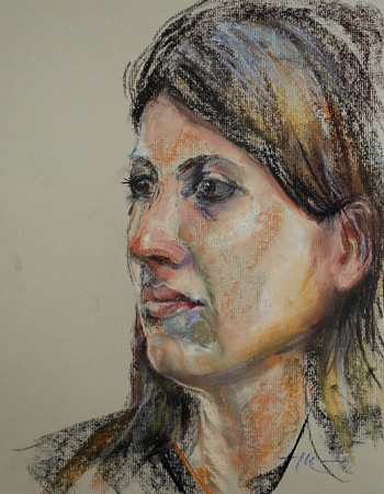 Plein air Portret studie Model Jona, maat 40×30 cm