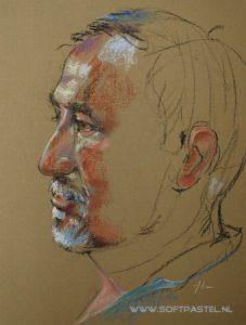 portretten in paster naar life model - Joke Klootwijk - dutchpainter