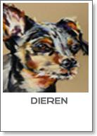 Dieren serie pastel schilderijen