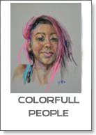 colorfull people serie pastel schilderijen