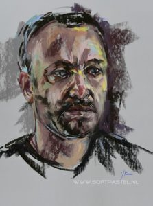 Sky art Life uitzending facebook portret schilderen Will Young, actor