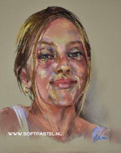 Pastel studie op board - Joke Klootwijk ook voor opdrachten en workshops