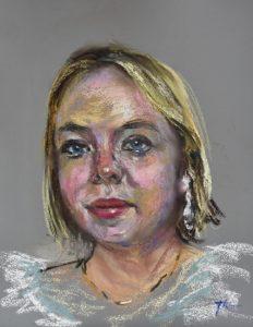 portret actrice Nicola Coughlan, england, Bridgerton maat 30x24 cm op Pastelboard