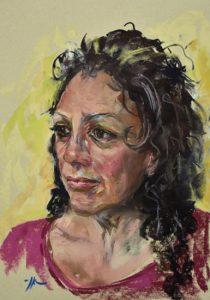 Pastel portret studie op Tim  Fisher pastel papier. maat ongeveer 27 x 35 cm.